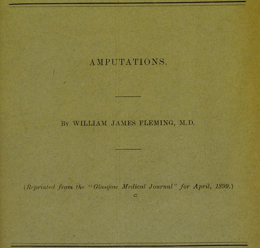 Amputations   by William James Fleming